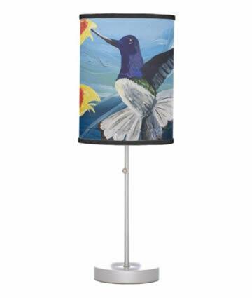 Hummingbird Table Lamp