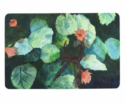 Lilies In Water Floor Mat
