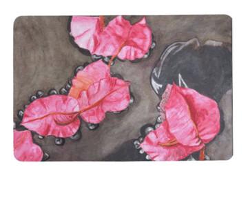 Petals In Water Floor Mat