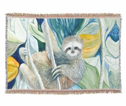 Sloth Throw Rug