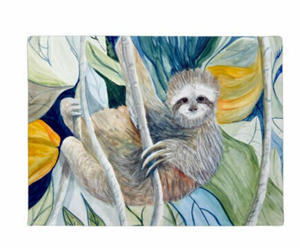 Sloth In The Rainforest Floor Mat