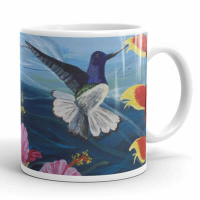 Hummingbird With Flowers Mug