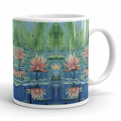 Peach Lilies Mug