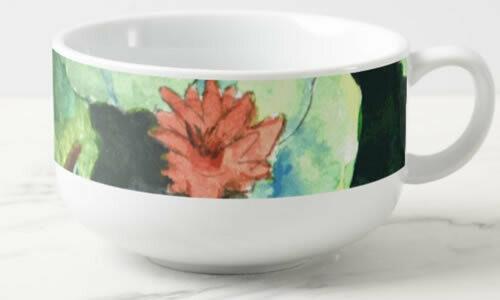 Lilies In Water Soup Mug