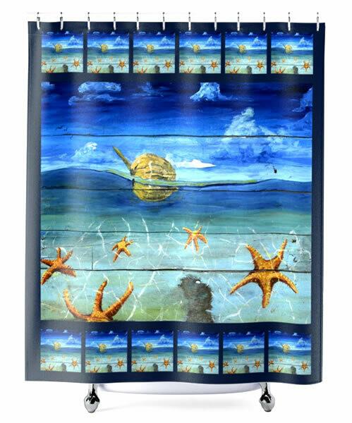 Starfish Beach -  Shower Curtain