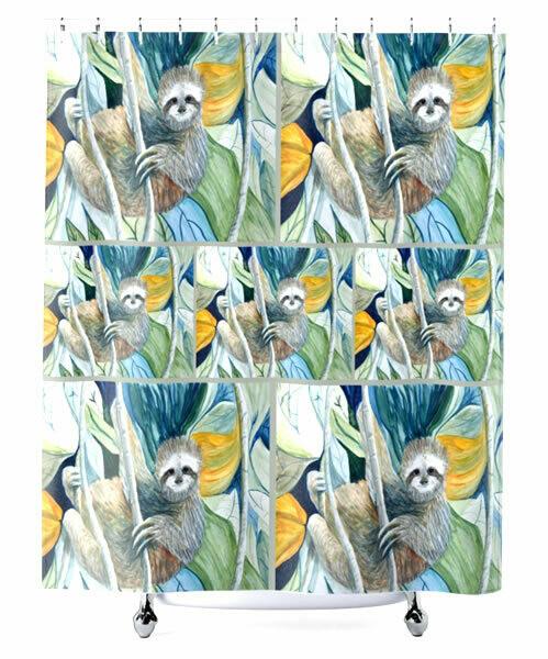 Sloth -  Shower Curtain