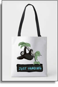Just Hanging  All Over Printed Tote