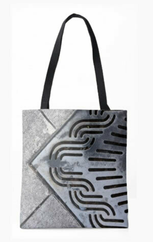 Black Out All Over Printed Tote