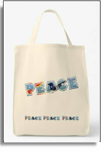 Peace Grocery Tote Bag