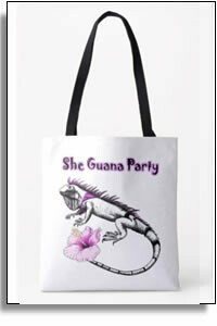 She Guana Party All Over Tote