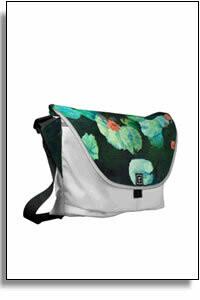 Lilies in Water Messenger Bag
