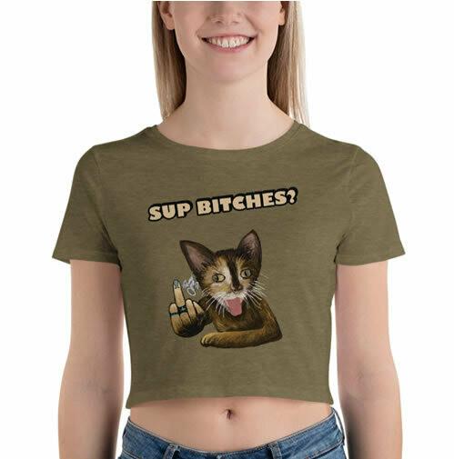 Sup Bitches?  Crop Top