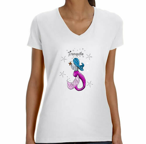Tranquilo Mermaid  V Neck T-Shirt