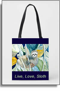 Sloth In The Rain Forest  All Over Printed Tote