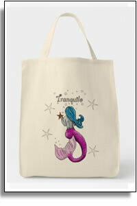 Tranquilo Mermaid Grocery Tote