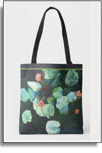 Lilies In Water Tropical All Over Printed Tote