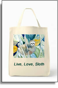 Sloth Grocery Tote Bag