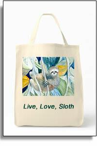 Sloth Grocery Tote Bag