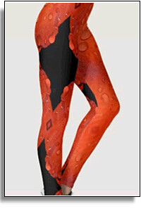 Red Rain Urban Vibe Leggings