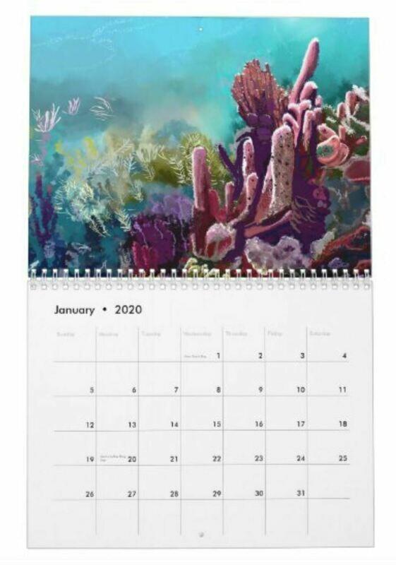 2020 Tropical Watercolor Calendar