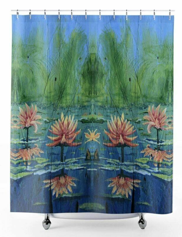 Peach Lilies -  Shower Curtain