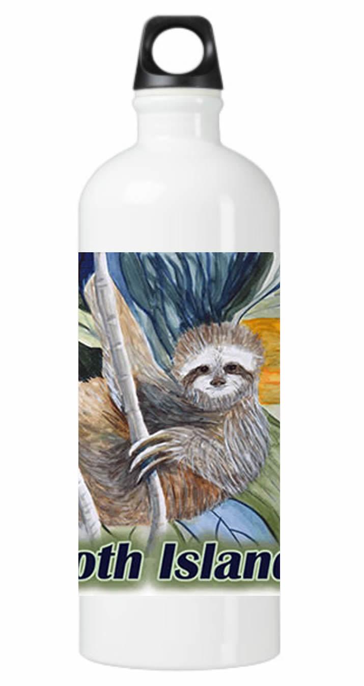 Sloth Island Water Bottle