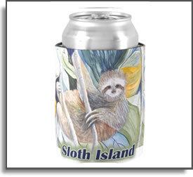 Sloth Island Koozie