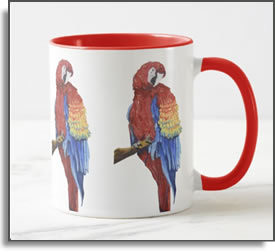 Scarlet Macaw Bocas Mug