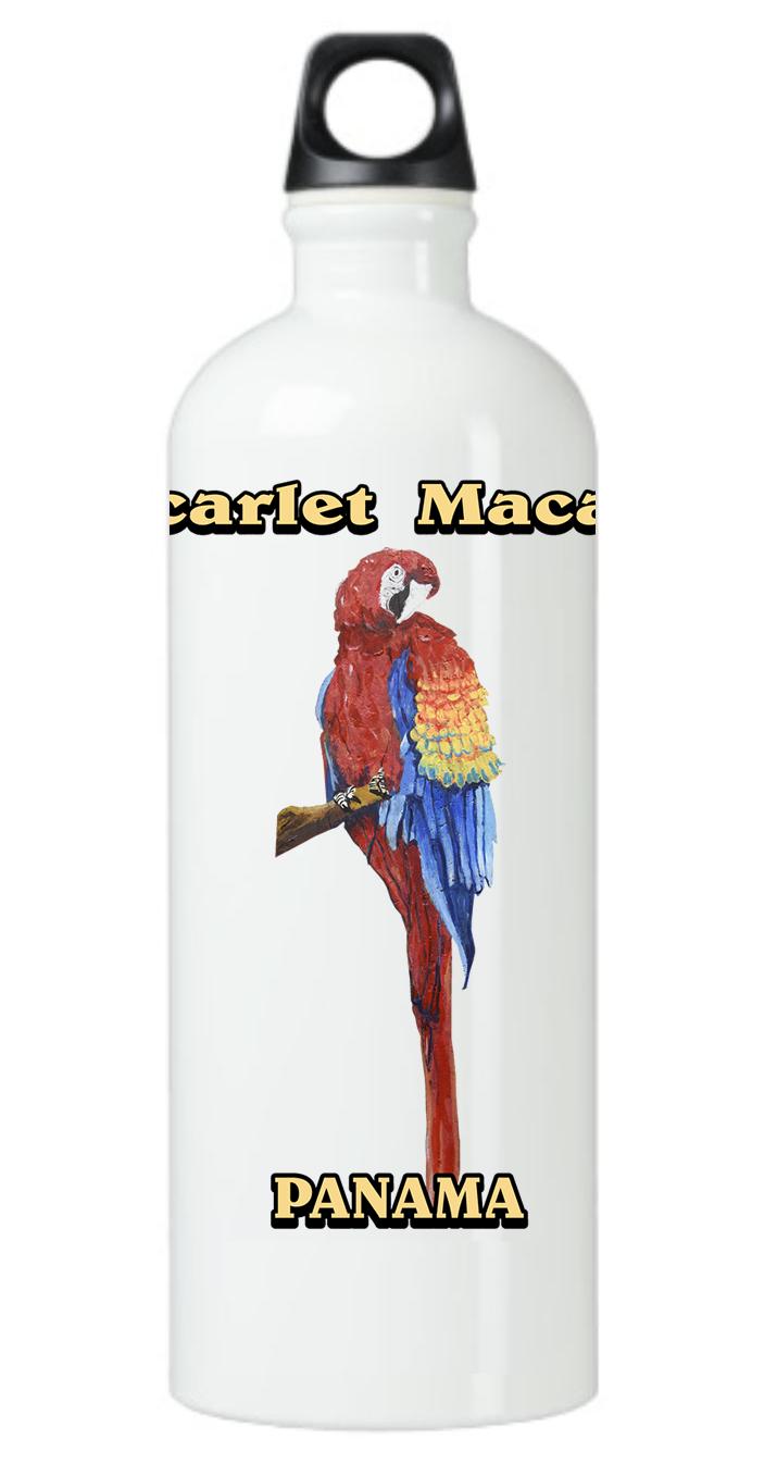 Scarlet Macaw Water Bottle
