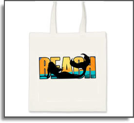 Beach Mermaid Tote Bag