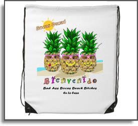 Bad Ass Bocas Beach Bitch Backpack