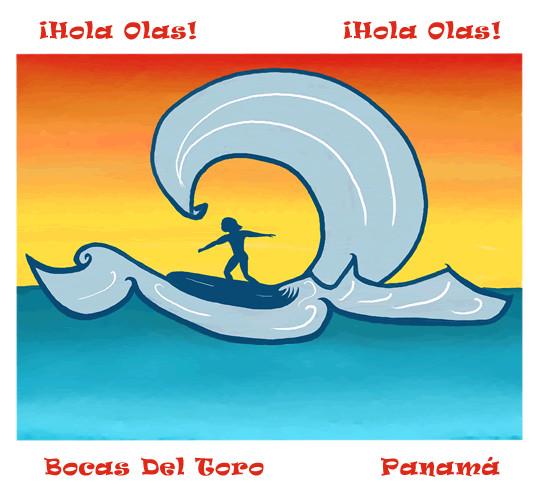 ¡Hola Olas!   -  Hello Waves! Print