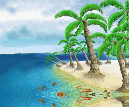 Beach In Panama Print