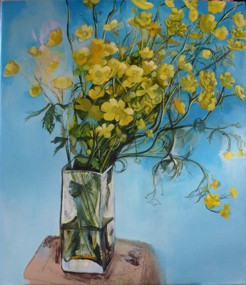 Buttercups, oil on canvas 95x71cm  37