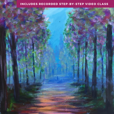 When tree's whisper by Lily Brannon including recorded step-by-step video class