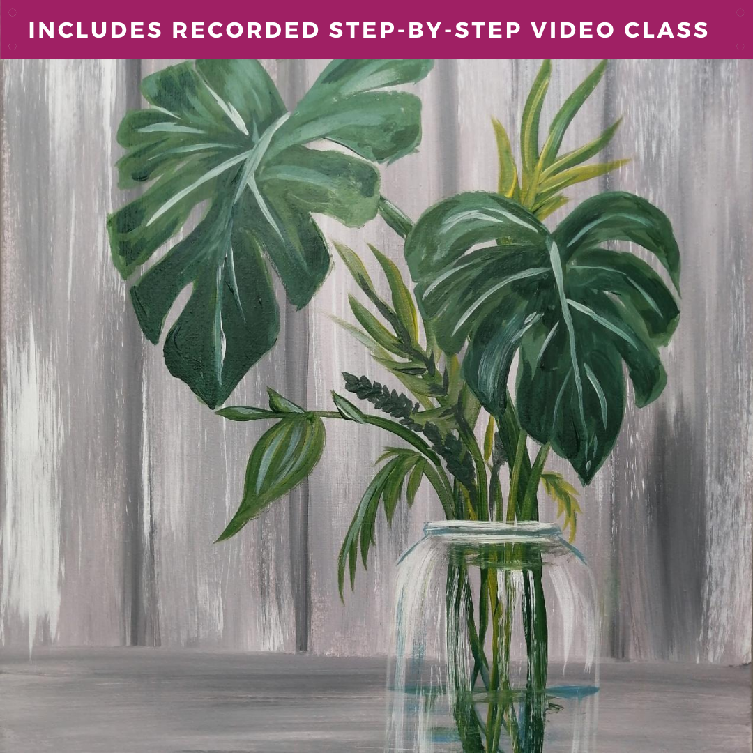 Delicious Monstera by Tashai Simons including recorded step-by-step video class