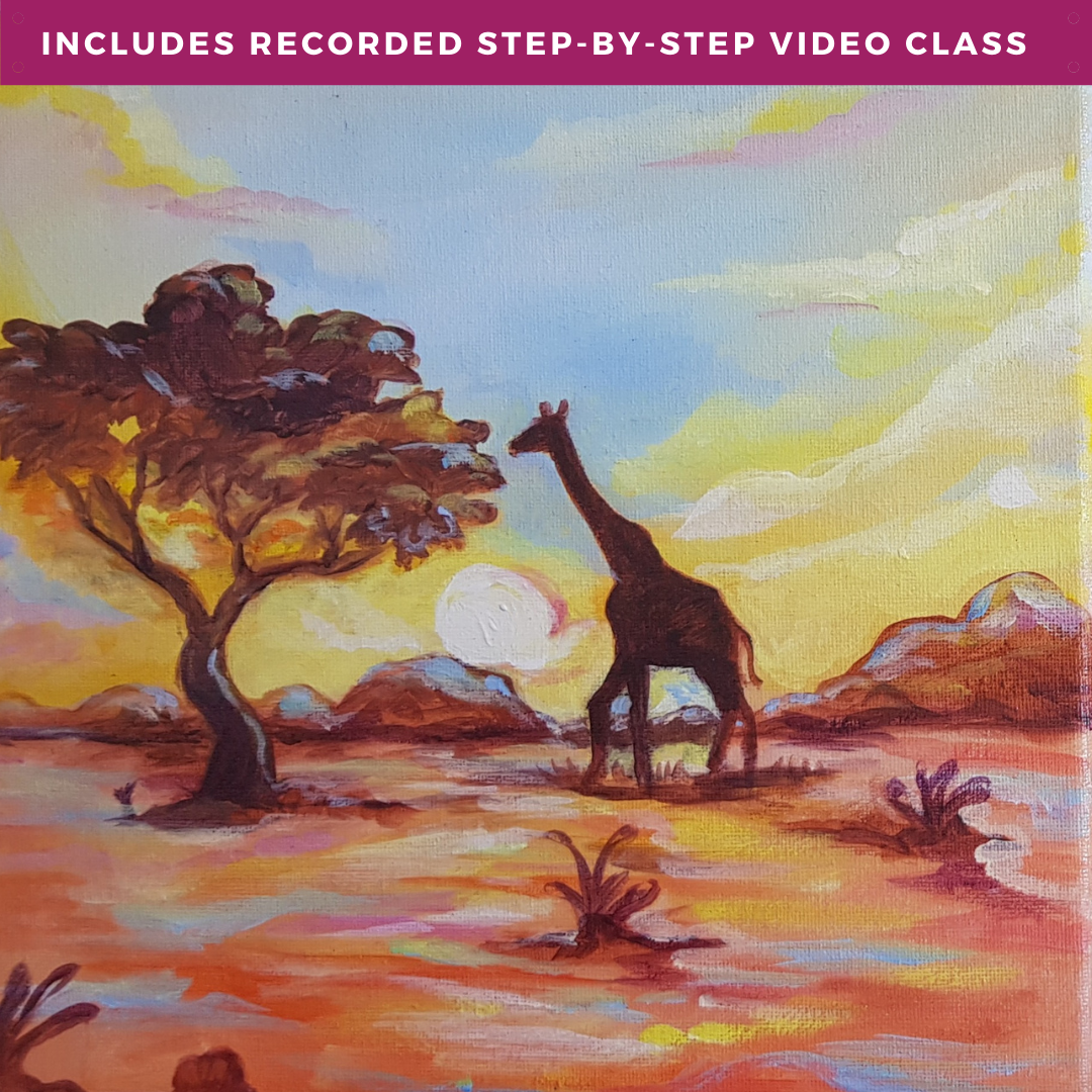 African Skies by Joel Mamboka including recorded step-by-step video class