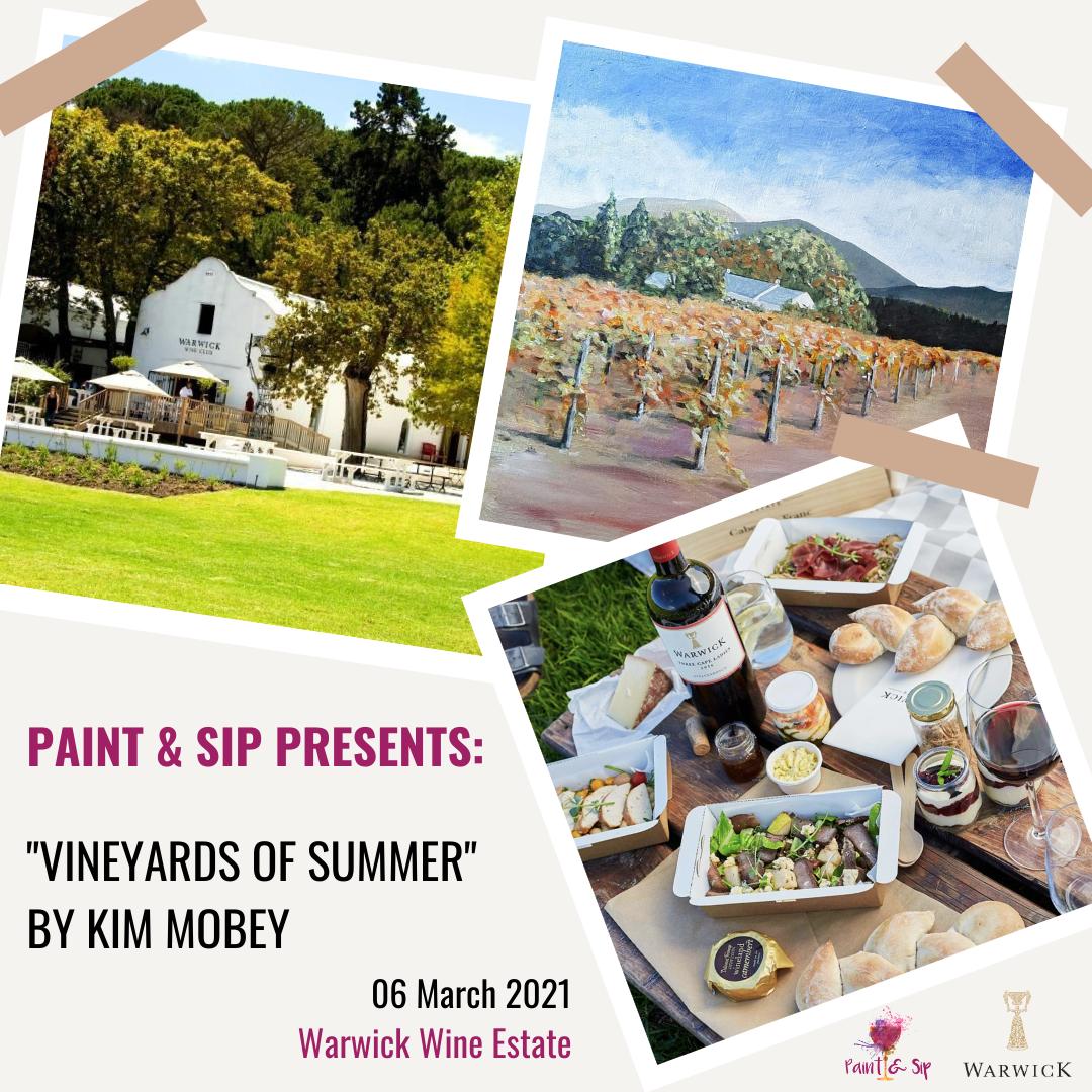 Outdoor Paint & Sip at Warwick Wine Estate (Stellenbosch) | 6th March 2021