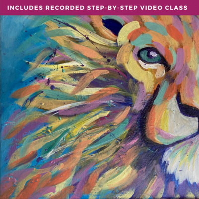 """""""Lion Heart"""" by Lily Brannon including recorded step-by-step video class"""