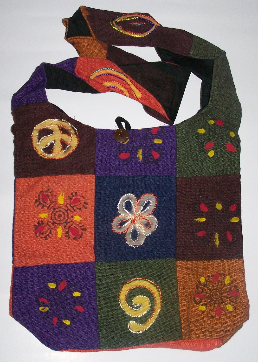 Cotton Embroidered Shoulder Bags - Clearance