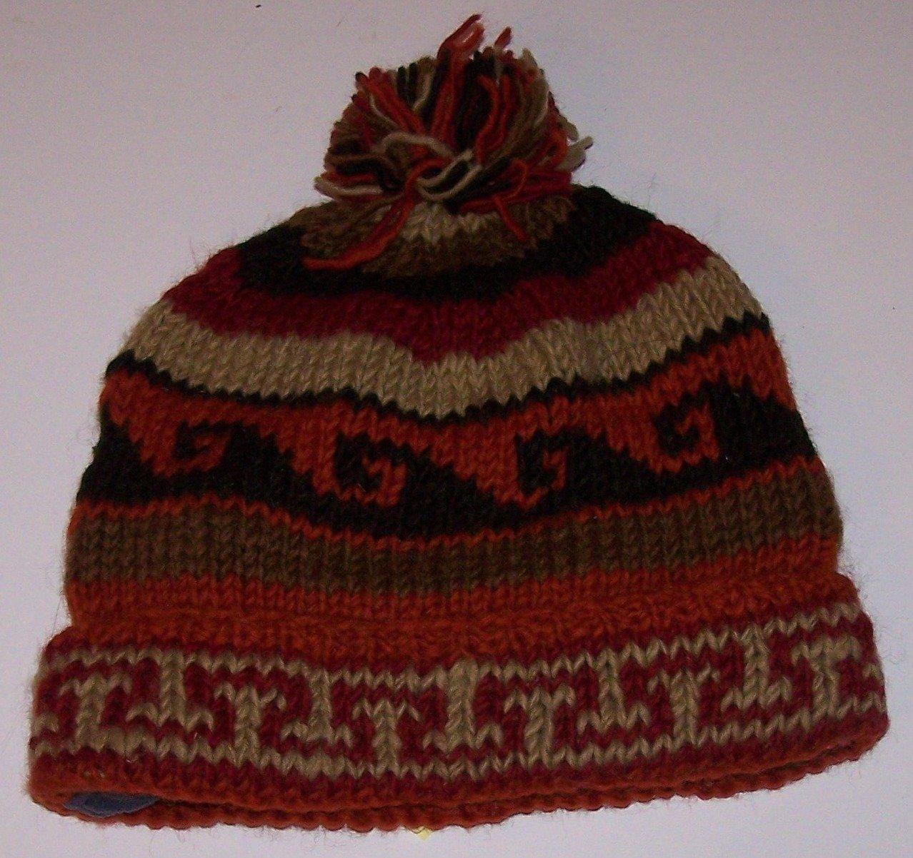 Hand Knitted Woolen Round Hat