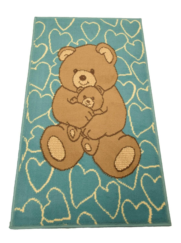 Kindertapijt Bear Blue 60cm x 110cm