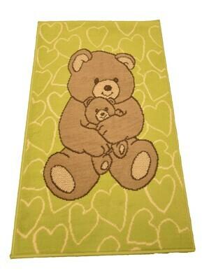 Kindertapijt Bear Lime 60cm x 110cm