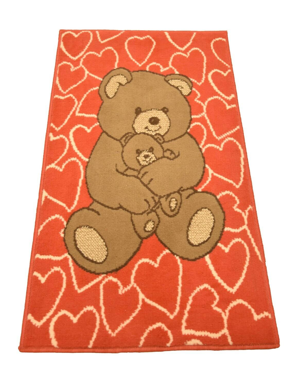Kindertapijt Bear Red 60cm x 110cm