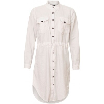 Karen lang skjorte White Soulmate