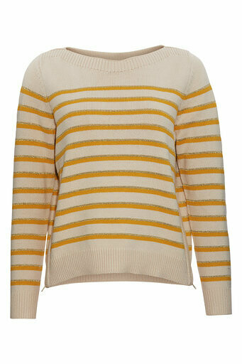 o-neck knit yellow Rue de Femme