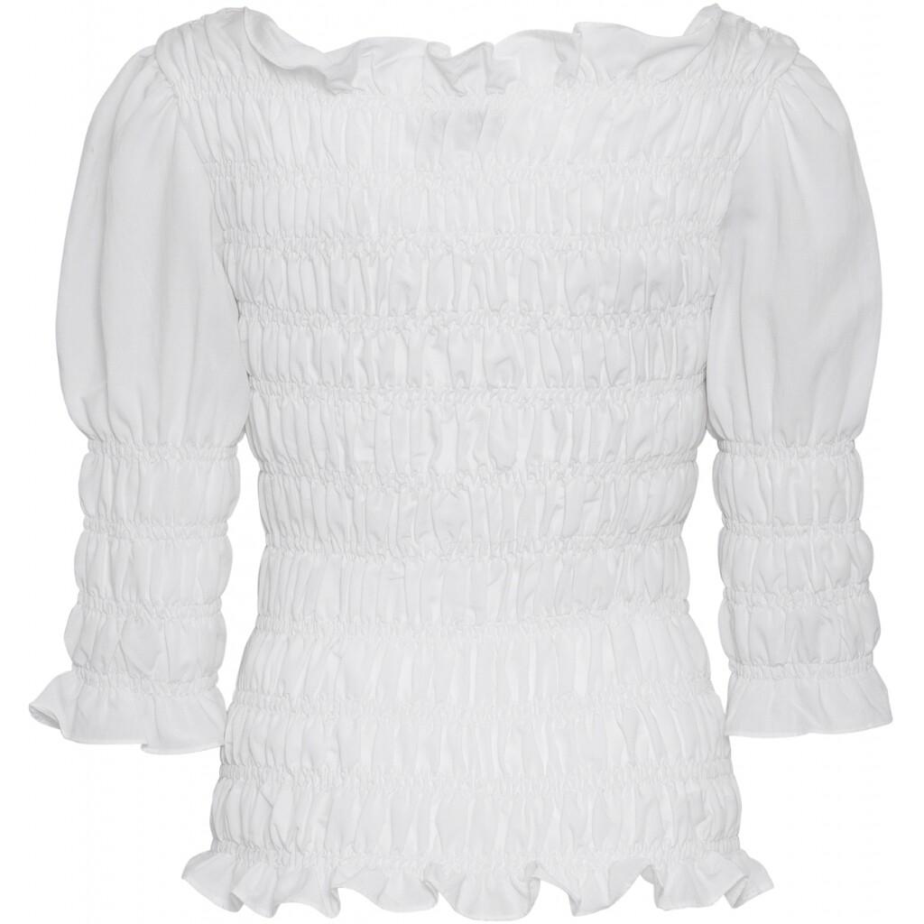 Julia smock blouse white