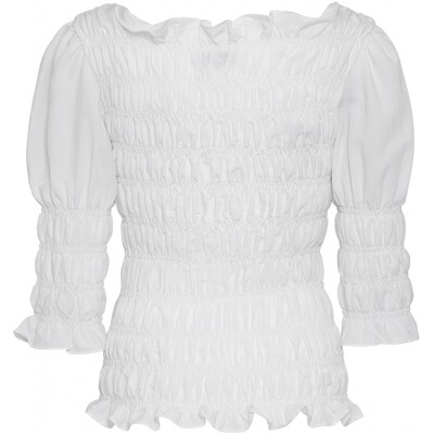 Julia smock blouse white