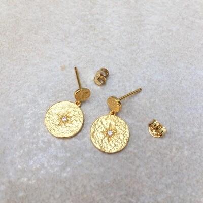 øreringe Guld ThreeM
