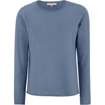SRMarla new O-neck knit roll Edge Bijou blue Soft rebels